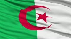 Waving national flag of Algeria - stock footage