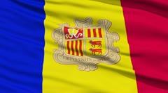Waving national flag of Andorra - stock footage