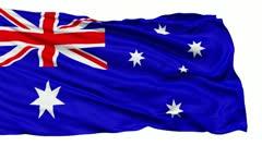 Waving national flag of Australia - stock footage