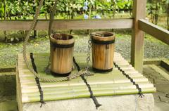 Traditional Japanese well - stock photo