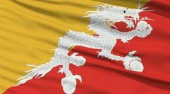 Waving national flag of Bhutan - stock footage