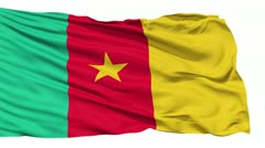 Waving national flag of Cameroon - stock footage