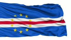 Waving national flag of Cape Verde - stock footage