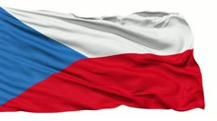 Waving national flag of Czech - stock footage