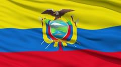 Waving national flag of Ecuador - stock footage