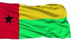 Waving national flag of Guinea Bissau - stock footage