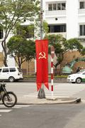 Stock Photo of Vietnamese communist propaganda signs on the 23 October
