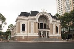 Famous grand post office in Hou Chi Minh (Saigon), Vietnam. Stock Photos