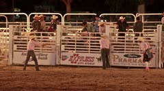 Rodeo bull riding night P HD 1148 Stock Footage
