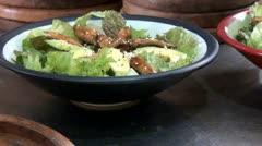 Salads, Ensalada, Antipasto, Vegetables, Foods Stock Footage