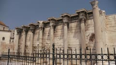 Athens antiquities street - stock footage