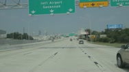 Interstate 10 junction I95 Stock Footage