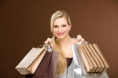 Stock Photo of shopping woman fashion happy bag