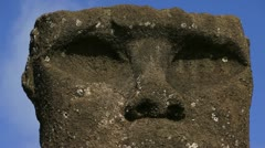 Easter Island Moai Head Stock Footage