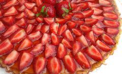 stawberry desert - stock photo