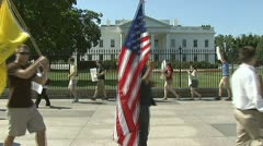 Eric Holder - Fast and Furious protesters at the White House Stock Footage