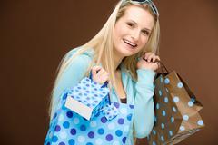 shopping woman fashion happy bag - stock photo