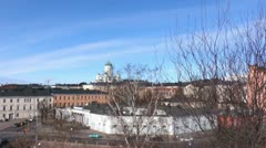 Helsinki 16 - Lutheran Cathedral and Presidential Palace Stock Footage