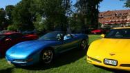 Corvette cars Stock Footage