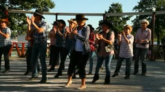 Line dance - stock footage