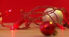 Christmas tree decorations and Christmas presents Stock Footage