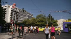 Athens Greece Parlament 1 - stock footage