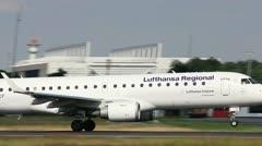 Lufthansa Cityline take-off Stock Footage
