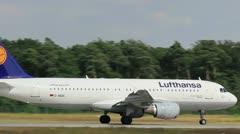 Lufthansa take-off Stock Footage