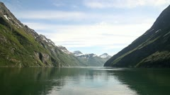Fjord at Geiranger Norway Stock Footage