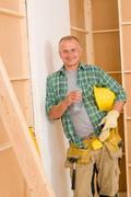 handyman mature professional diy home improvement - stock photo