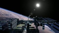 Iss - stock footage