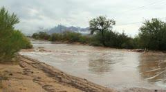 Tucson Street Flash Flood Stock Footage