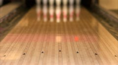 A bowling ball Stock Footage
