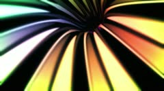 Wormhole though time and space, in rainbow colors Stock Footage