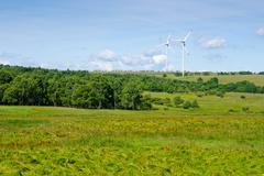 green energy windmill generators ecology countryside - stock photo