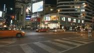 Toronto Street At Night Stock Footage