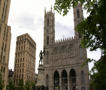 Notre-Dame basilica of Montreal - stock footage