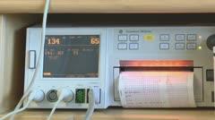 Fetal heart monitor hospital Stock Footage