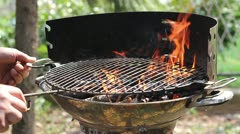 Barbecue fire Stock Footage