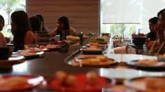 Thai food restorant Stock Footage