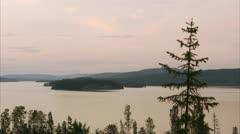 Sunset at Hoga Kusten - stock footage