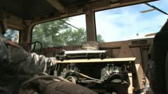 Hummvee driving 5PR Stock Footage
