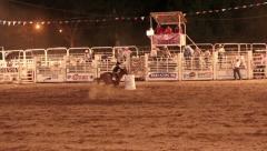 Rodeo girl barrel race night P HD 1182 Stock Footage