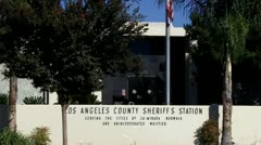 The Los Angeles County Sheriff's Station- Norwalk Zoom - stock footage