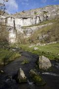 Cold river on the Yorkshire mores in England. - stock photo