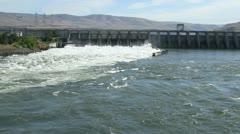 Water jets from the John Day dam Stock Footage