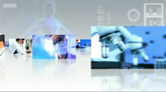 Montage Selection Multi Ethnic Laboratory Researchers Stock Footage