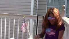4th of July Bubbles Stock Footage