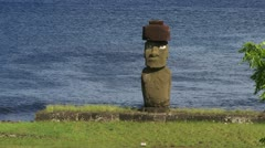 Easter Island Moai Statue Stock Footage