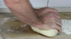 Kneading dough - stock footage